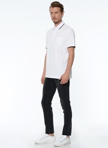 George Hogg George Hogg Polo Yaka Kısa Kollu Erkek Tshirt Beyaz